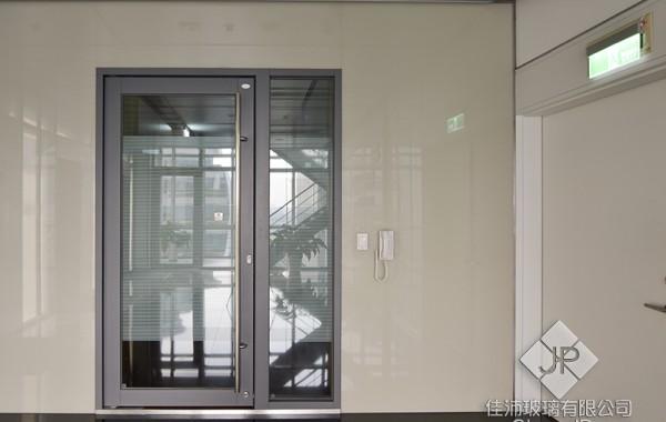 (單扇) 180度 推開防火玻璃門+固定窗 (夾式鎖 取代陽極鎖)