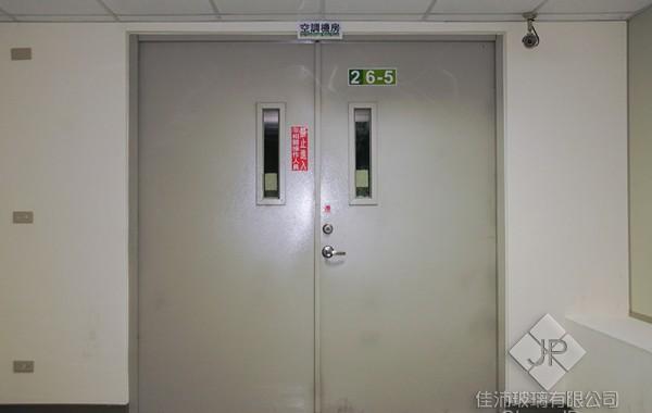 (雙扇) 180度 推開防火鋼板門-附小視窗